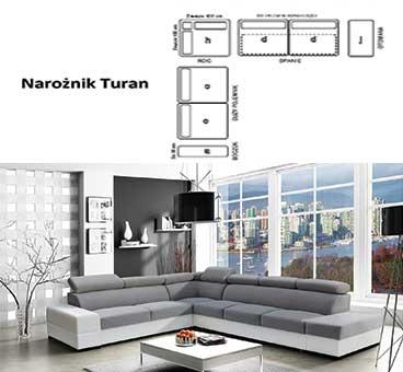 Narożnik Turan wersja dwukolorowa