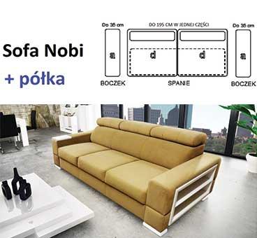 Sofa Nobi + półka