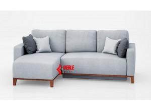 Narożnik Julian- wysokie drewniane nogi oraz komfortowe poduszki